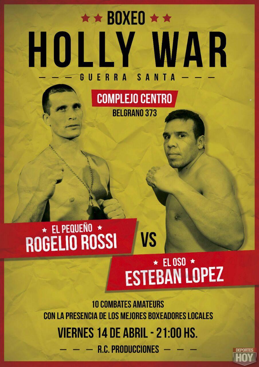afiche boxeo abril rossi