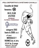 LAS PUMITAS, Escuela de Fútbol Femenino para nenas